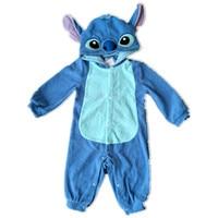 Children Kid Fleece Animals Pajamas Anime Cartoon Costumes Sleepwear Onesies Cosplay Stitch Yellow Bear Mouse Cute