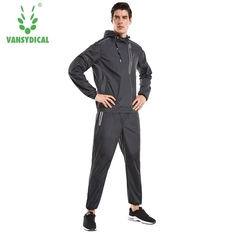 Men's Slimming Sportswear Sweat Sweatshirt Running Sets Sweating Jacket Jogging Pants Body Control Weight Reduction Body Suit