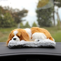 Lovely Car Decoration Dog With Air Purifier Bamboo Charcoal Bag Vivid Cat For Home Office Car