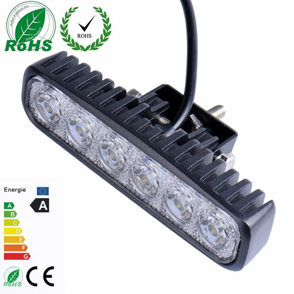 18W Flood LED Work Light Driving Light Bar car-styling For 4x4 Off road SUV Car Truck Trailer Tractor UTV Vehicle Car Light 18w 5d flood spot led work light atv off road light lamp fog driving light bar for 4x4 offroad suv car truck trailer tractor 12v