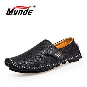 Image 4 - MYNDE חדש אופנה מוקסינים לגברים לופרס קיץ הליכה לנשימה נעליים יומיומיות גברים וו & לולאה נהיגה סירות גברים נעלי דירות