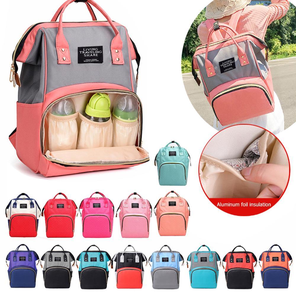 Mummy Diaper Bags Zipper Mother Travel Backpacks Baby Nappy Nursing Diaper Bag Large Capacity Maternity Handbags Pregnant Women
