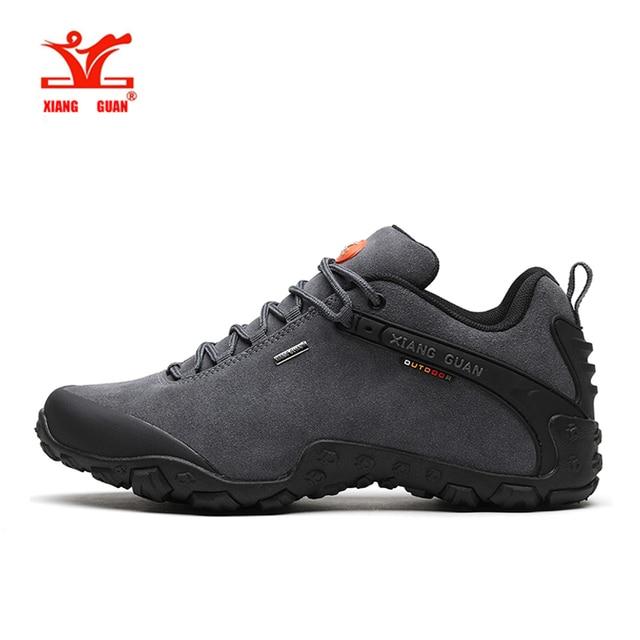 XIANGGUAN men outdoor hiking shoes slip-resistant hiking Sneaker women outdoor sports shoes high quality big size 36-48