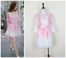 Jingjing with full of fairies, silk chiffon dress