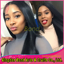 Romantic silk straight glueless full lace wig with natural hairline lace front wig 130% density for black women