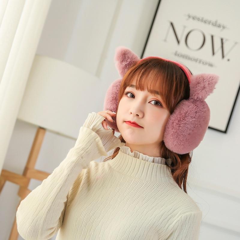 Elegant Imitation Rabbit Fur Winter Earmuffs For Women Warm Earmuffs Ear Warmers Gifts For Girls Cover Ears Fashion Brand PS-05