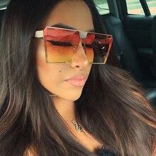 Fashion Color Women Sunglasses Unique Oversize Shield UV400