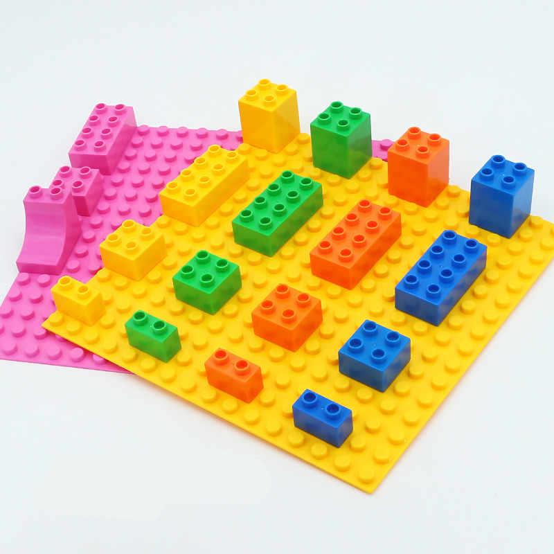 Accesorios de bloques de construcción de partículas grandes DIY bloques coloridos placas Base de juguetes para regalos de bebés y niños