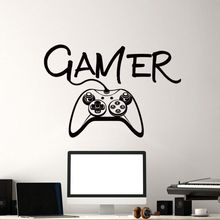 Video Game Wall Decals Controller Mural Boys Room Kids Playstation Decor Gamer Vinyl Art Sticker AY1268