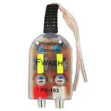 Горячая автомобильный стерео радио динамик высокий к низкому RCA линия аудио сопротивление конвертер
