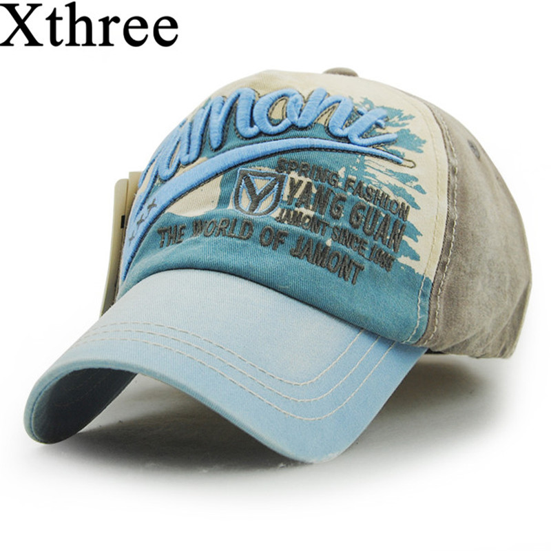 Xthree Wholesale fashion Letter embroidery baseball cap Cotton Casual swag cap hip hop snapback Hat for men Baseball Cap women discount hot wholesale boy girl kid fashion hip hop snapback hat embroidery character style active novelty children baseball cap