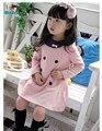 Новорожденных девочек одеваться милый розовый цвет 3-8 лет детская платье принцессы на продажу детские dress2013 Корея моды свободный доставка