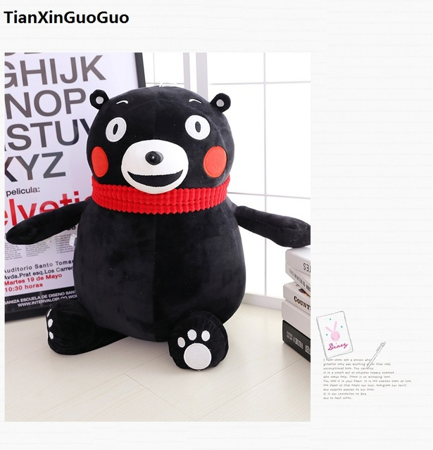 Stuffed Toy Large 65cm Lovely Black Bear Plush Toy Soft Doll Throw