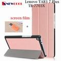 5pcs/lot For Lenovo TAB3 Tab 3 7 Plus 7703 7703x TB-7703X TB-7703F 7.0 tablet Case 3-Fold PU Leather Case Cover case