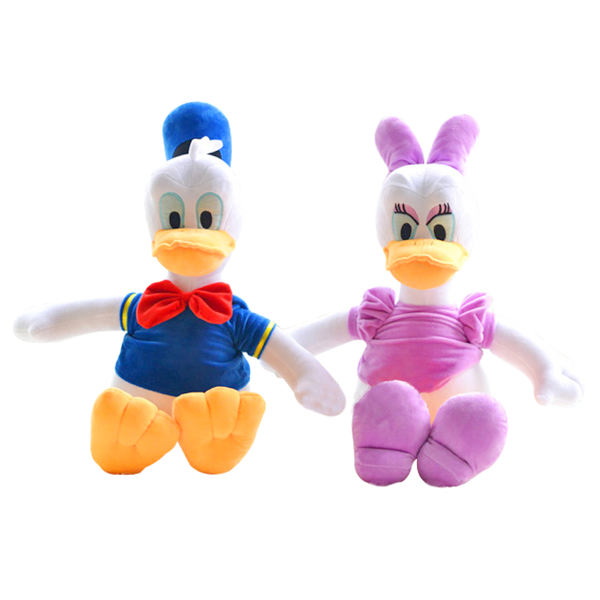 2pcs 12 30cm Genuine Donald Duck Daisy Duck doll plush toy children's gifts christmas gift free shipping fancytrader new style giant plush stuffed kids toys lovely rubber duck 39 100cm yellow rubber duck free shipping ft90122