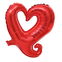 FBIL Heart Shape 18 Inch Foil Birthday Party Supplies Wedding Decor Balloons Lot Red 50pcs
