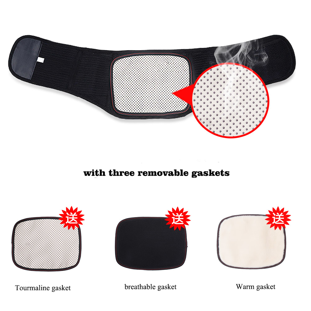 Tourmaline Self-heating Magnetic Therapy Back Brace Waist Belt Spine Support Men Women Belts Breathable Lumbar Back Support tcare adjustable tourmaline self heating magnetic therapy waist support belt lumbar back waist brace double band health care