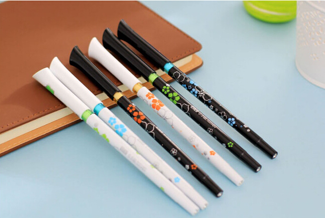 B49 6pcs/lot Cute Kawaii Creative Korean Romantic Floewer Gel Pen Kid Children Stationery Gift Prize School Supplies 0.5mm