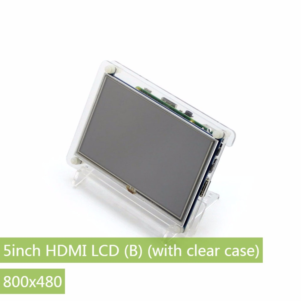 Parts Raspberry Pi LCD Display 5 inch HDMI LCD (B) (with clear case) Touch Screen Supports Raspberry Pi 3/2 B Banana Pi / Banana module waveshare rpi 5inch hdmi lcd b with clear case display touch screen for raspberry pi b 2b 3b banana pi pro beaglebone bl