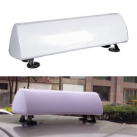 55 cm Strong Magnets DIY Advertising LED Blank Taxi Cab Top Lamp Sign Light Roof Top Topper Driver Car White Bright Light 12 V