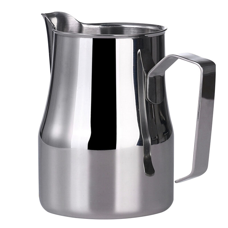 High Quality 350ml/550ml/750ml Coffee Mug Cup Jug Coffee Shop Espresso Milk Latte Art Frothing Mug Jug Tamper