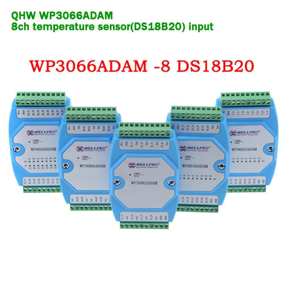 8ch Temperature Sensor Input Module RS485 Modbus RTU Control For Temperature Monitor/Signal Collection/Apparatus Set