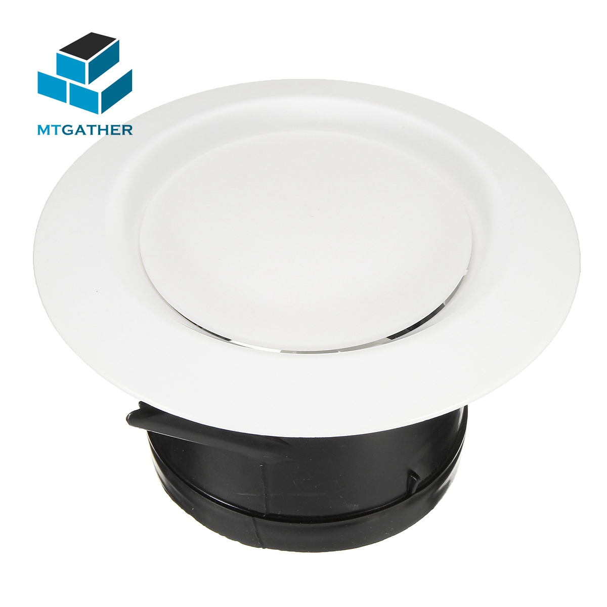 MTGATHER ABC Ventilation Grille Air Grille Round Round Air Vent ABS Louver Grille Cover Heating Cooling Vents Vents