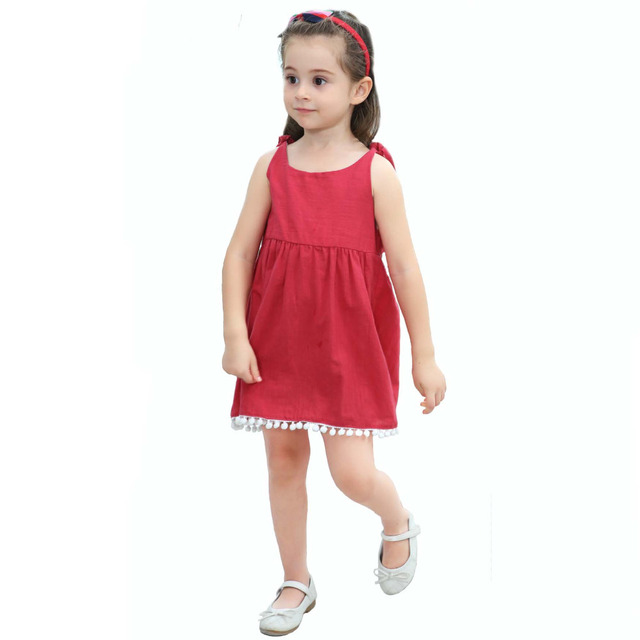 5af39ac5a Kid Summer Simple Casual Dress Infant Baby Little Girls Holiday ...