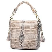 تعزيز مصمم لامعة رشيقة التمساح الحبوب المرأة 100% جلد طبيعي تنقش عبر الجسم حقائب * شحن مجاني GY14