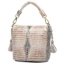 โปรโมชั่น Designer เงาสง่างามจระเข้ผู้หญิง 100% ของแท้หนัง CROSS Body กระเป๋าถือ * จัดส่งฟรี GY14