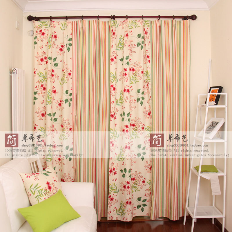 Cherry Tree pastoral song ab cotton cloth curtain tablecloth cushions finished version customizedCherry Tree pastoral song ab cotton cloth curtain tablecloth cushions finished version customized