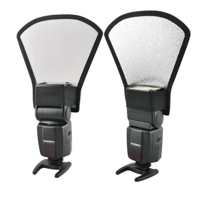 цена на Flash Diffuser For Canon Nikon Speedlite Photography DSLR Camera Accessories Flash Diffuser Softbox Silver&White Reflector