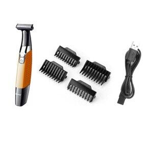Image 2 - Bir bıçak erkek elektrikli tıraş makinesi vücut yüz elektrikli tıraş makinesi erkekler için erkek anız giyotin sakal tıraş kenar kafa