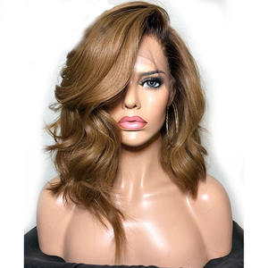 Eversilky Wig 360 Lace-Frontal Human-Hair Body-Wave Ombre Women Natural Brazilian