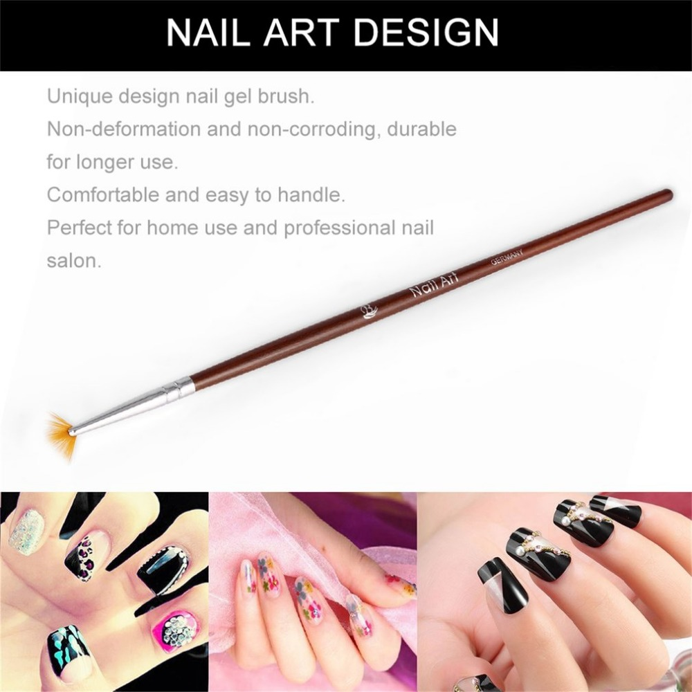 Nail Art Brush for UV Gel Polish Salon Easy Handle Nail Art tools ...