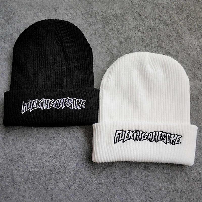 eced16bde02 ... Fucking Awesome wool cap hip hop winter hats men women Skullies  streetwear beanie gorras snapback justin ...