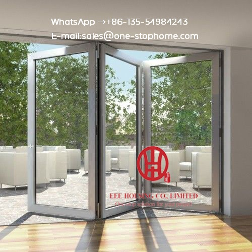 New Design Sliding Bifold Glass Doors Interior,patio Doors For Villa Use,Exterior Room Dividers Soundproof Insulated Glass