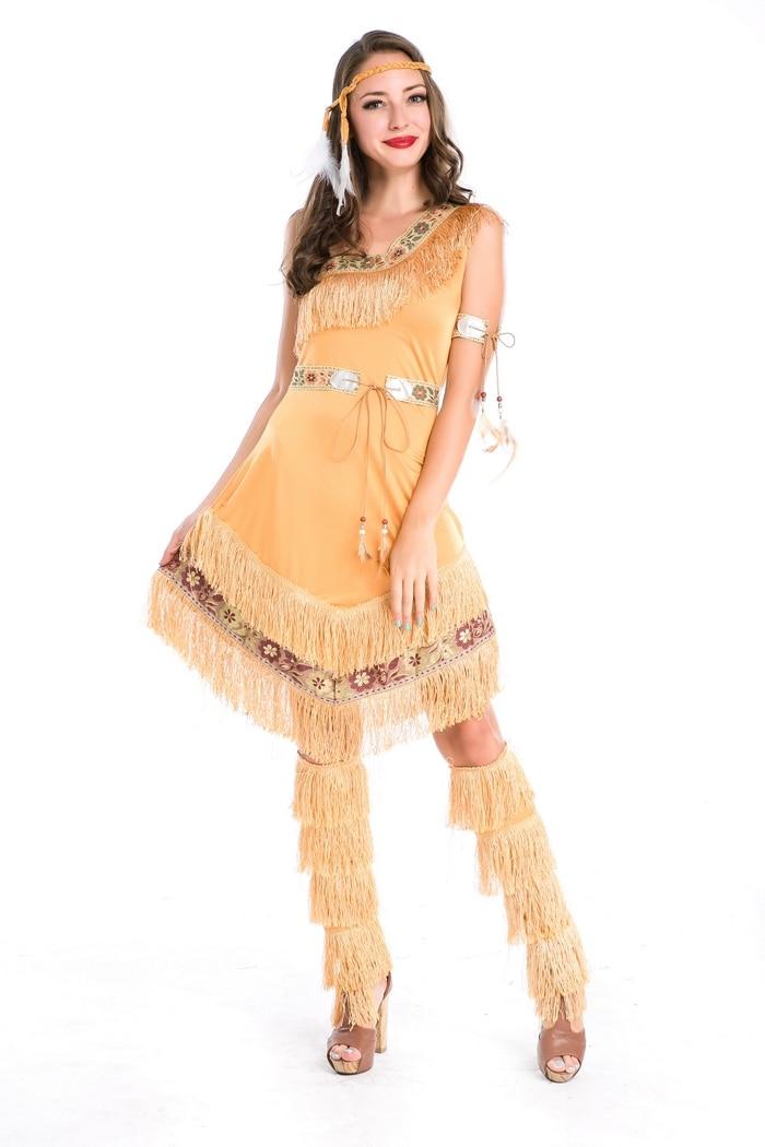 """""""Whelosale"""" Indijos kostiumas Moterims """"Pocahontas"""" suaugusiųjų drabužis M4856"""