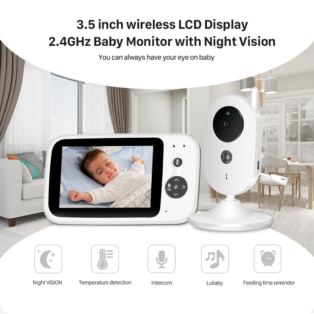 VB603 Video Baby Monitor 2 4G Wireless With 3 2 Inches LCD 2 Way Audio Talk