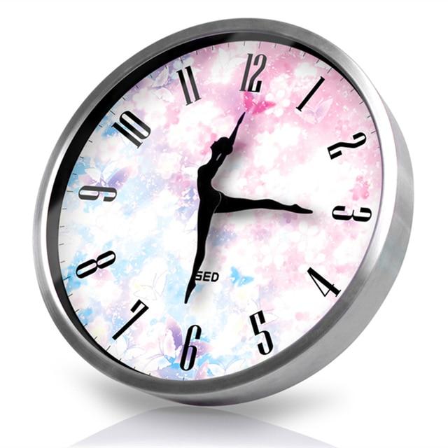 Creative Trend Art Wall Clock Bedroom Decoration Watches And Clocks Silent  Wall Clock Ballet Sports Quartz