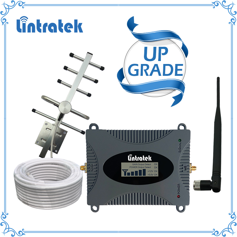 Lintratek Leistungsstarke GSM Repeater 900 mhz LCD Display GSM Cellular Signal Booster UMTS 900 mhz Mini Telefon Verstärker UPGRADE #2017