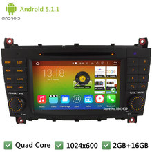 Quad Core 16GB Android 5.1.1 7″ HD 1024*600 Car DVD Player Radio Stereo Screen For Benz C-Class W203 C230 CLK200 CLK350 CLK W209