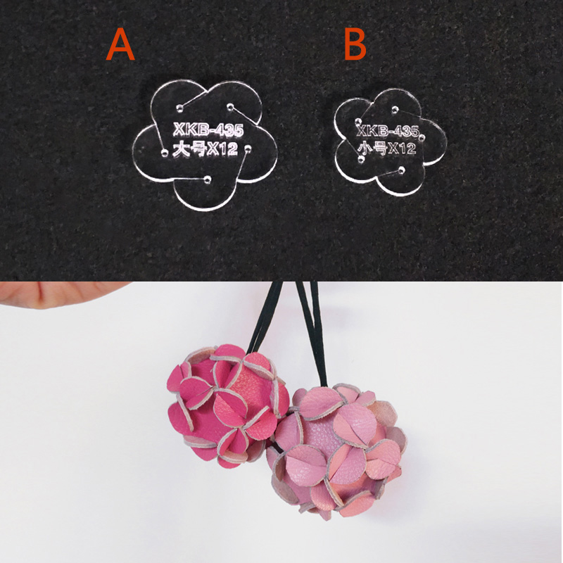 Hydrangea Ball Hanging Pendant Paper Pattern Paper DIY Hand-made Leather Acrylic Version Acrylic Design Durable Template