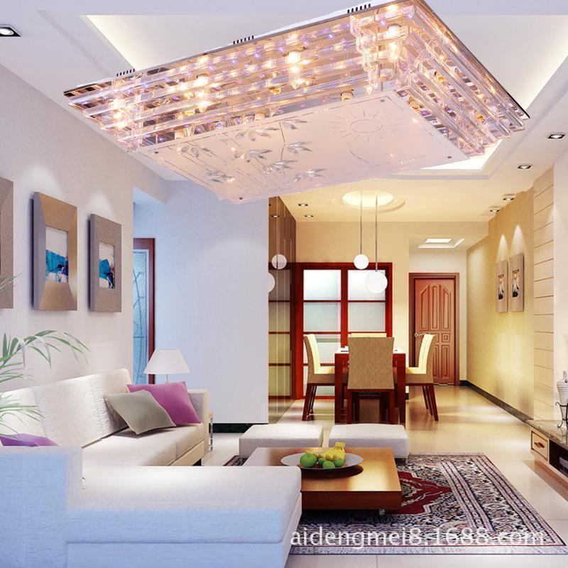 Fumat Led Ceiling Fans Crystal Light Dining Room Living: Ceiling Lights Lustres De Teto Modern Led Crystal Ceiling
