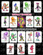лучшая цена 16pcs/set Amiibo Splatoon 2 Full Set NTAG215 Printed NFC Card Written by Tagmo Can Work For Switch