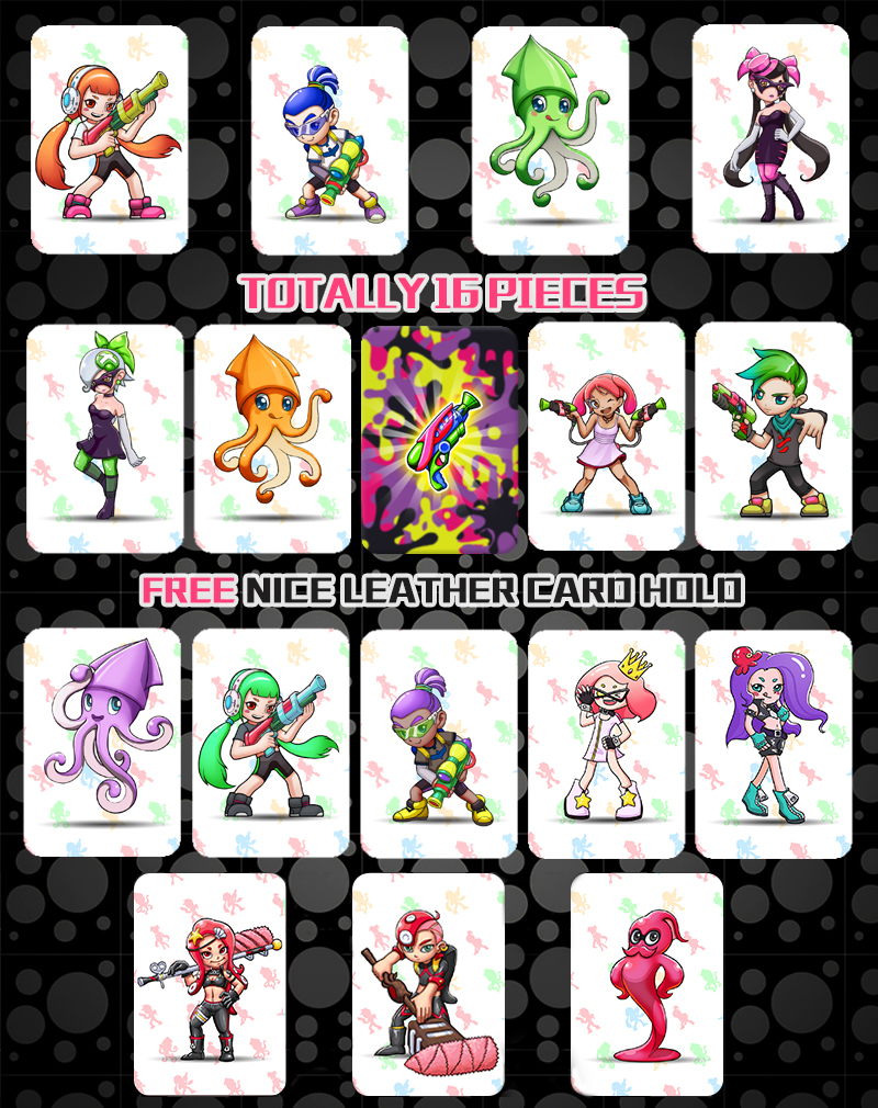 16pcs/set <font><b>Amiibo</b></font> <font><b>Splatoon</b></font> 2 Full Set NTAG215 Printed NFC <font><b>Card</b></font> Written by Tagmo Can Work For Switch image