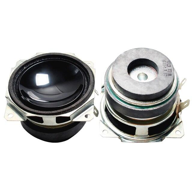 2 個 2 インチ 52 ミリメートルミニオーディオポータブルスピーカー 8 オーム 15 ワットフルレンジマルチメディアスピーカーサブウーファ Diy ホームシアター用サウンドシステム