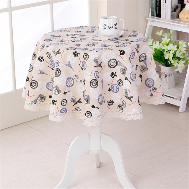 Wonderful Machine Washable Europe Style Tablecloths Eiffel Tower Design Round Table  Cover Manteles Para Mesa Coffee Table