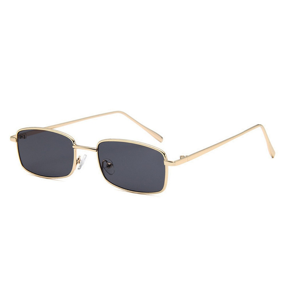 Small Square Ultraviolet Proof  Sunglasses Metal Frame Yellow Red Vintage Round Sun Glasses Inisex Eyewear Outdoor Eyeglasses