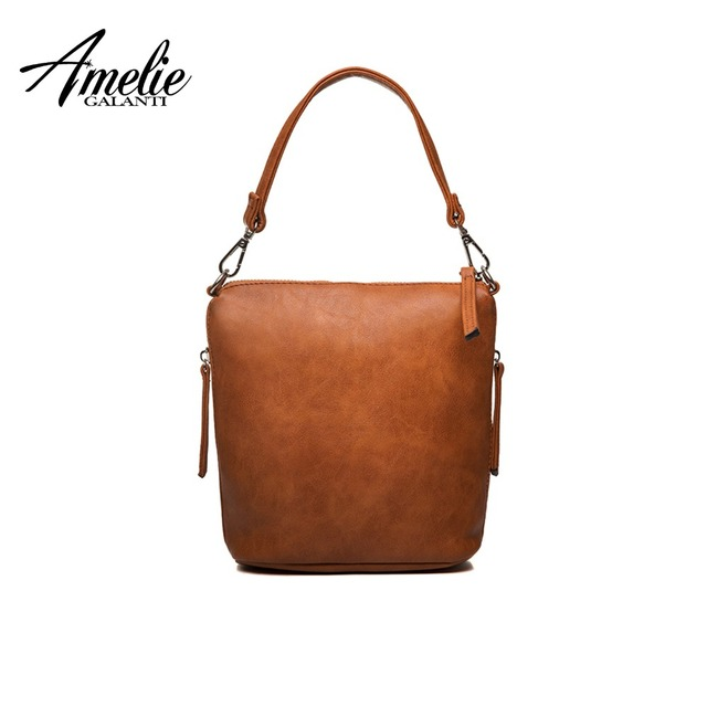 AMELIE GALANTI Women's Shoulder Bags with Zipper Soft PU Leather Women Bags Fashion Shoulder & Handbags Lady Crossbody Bags Shoulder Bags